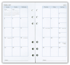 monthly pages for 6 ring planner refill
