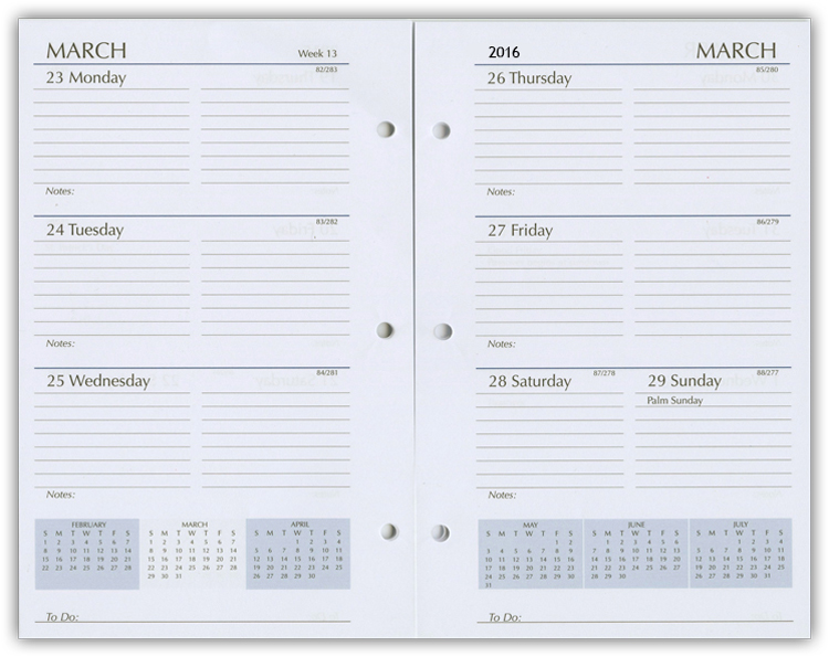 Planner Calendar Inserts : Planner refills weekly refill inserts