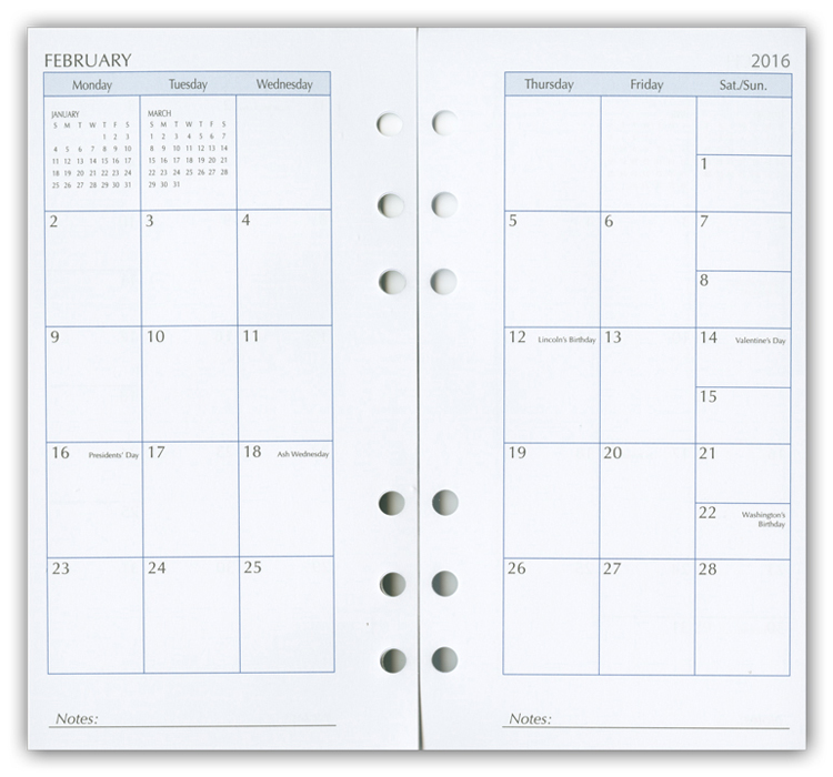 Ring Monthly Planner Refills