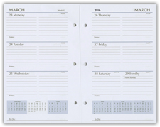 2017 three ring 5x8 calendar planner refill