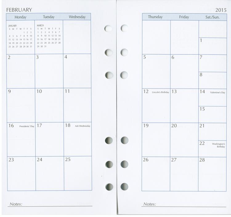 Academic Calendar Planner Refill : Spiral planner refills