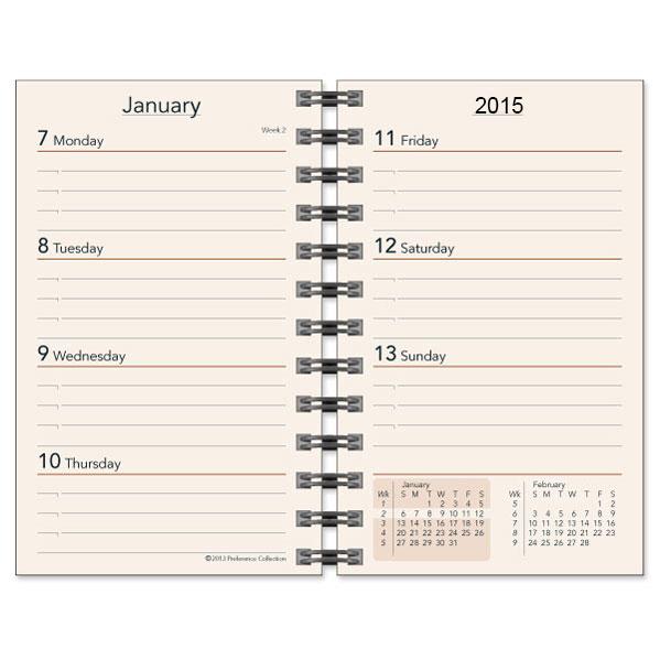Weekly Calendar Planner Refills : Planner refills weekly refill inserts