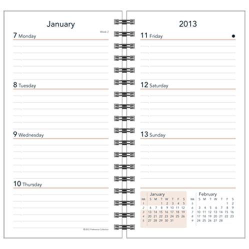 2019 wire bound planner refills, spiral bound